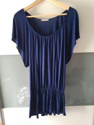 Kurzes Kleid/Longtop in dunkel blau
