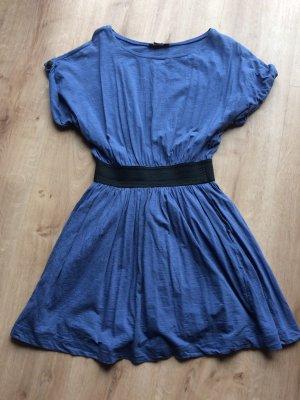 Mango Casual Sportswear Vestido estilo camisa azul acero