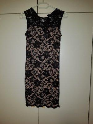 Melrose Lace Dress black-pink