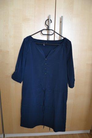 kurzes Kleid mit 3/4-Arm in dunkelblau