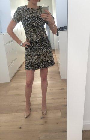Kurzes Kleid mit edlem floralem Muster in Größe 34