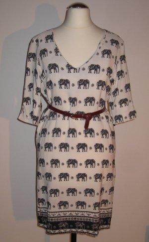 kurzes Kleid mit Elefantenprint von Be Girl Paris (Gr. S)