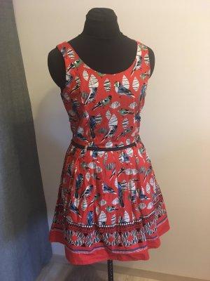ISKA Petticoat Dress red-bright red cotton