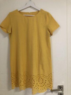 Kurzes Kleid Neogelb Tshirt Kleid