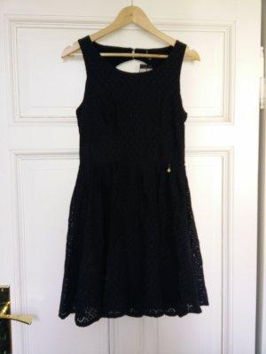 Kurzes Kleid Rückenausschnitt Blau