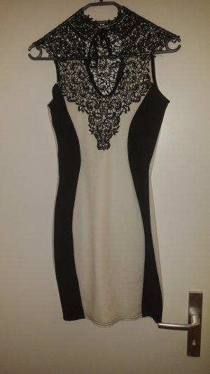 Cocktail Dress white-black