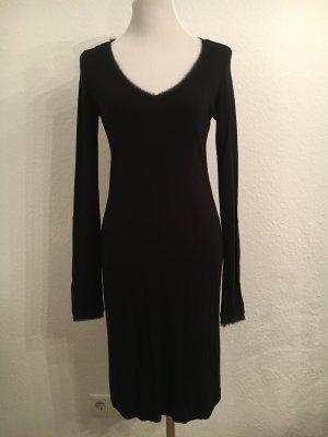 kurzes Kleid von Comma mit tollen Details am Ausschnitt, schwarz Größe 34