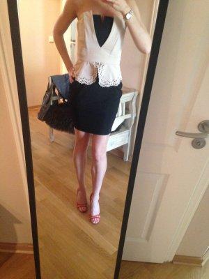 Kurzes Kleid von lipsy in schwarz beige