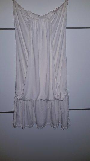 kurzes Kleid, weiß, Bandeau