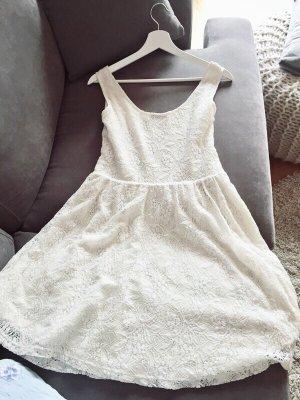 Kurzes Kleid weiß/creme