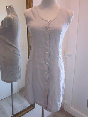 Kurzes Leinen Kleid Taupe Gr S