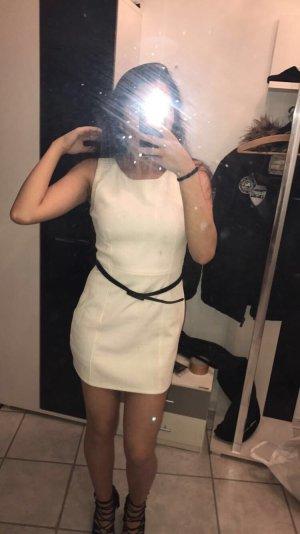 Mini-jurk wit-zwart