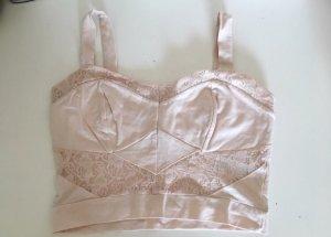 Miss Selfridge Top a fascia rosa pallido-rosa antico