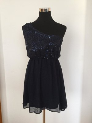 Atmosphere One Shoulder Dress dark blue polyester