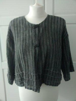 Blouse Jacket dark grey-black linen