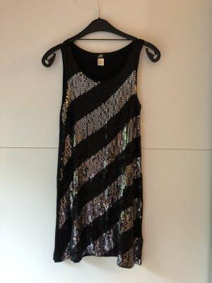 Kurzes Pailletten Kleid schwarz