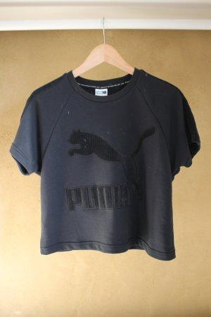 Puma T-shirt court noir tissu mixte