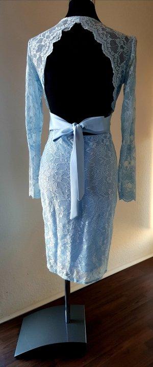 Lace Dress baby blue-azure