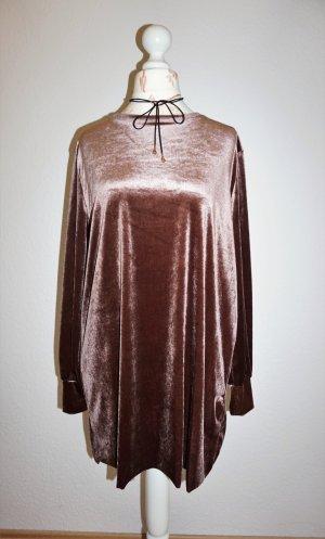 Zara Robe courte bronze-brun