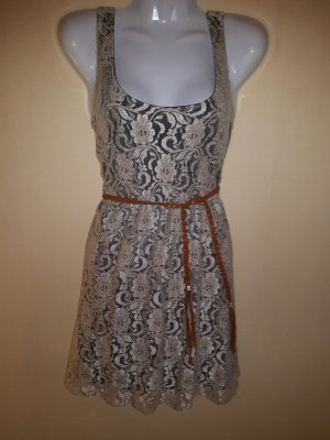 Apricot Lace Dress beige-black