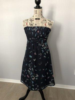 kurzes schulterfreies Kleid von Esprit mit Schmetterlingen Gr. 38