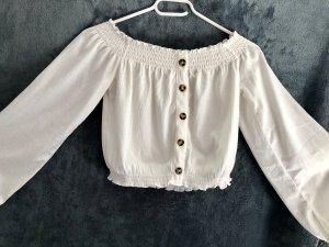 H&M Camisa de un solo hombro blanco