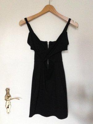 Kurzes Schwarzes Crossover Kleid