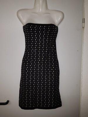 kurzes schwarzes Kleid mit Nieten von Amisu, neuwertig
