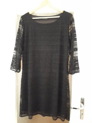 Yessica Kanten jurk zwart