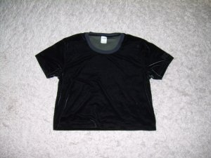 Pink Victoria's Secret Camisa recortada negro
