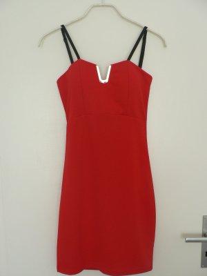 Kurzes SEXY Kleid tolles Dekolleté rot/gold