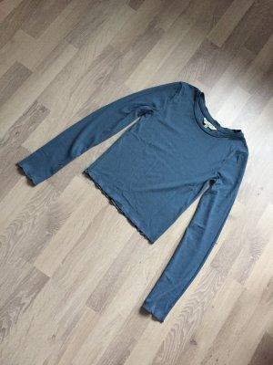 Kurzes Shirt Blau Größe XS