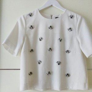 Kurzes Shirt mit Bling Bling