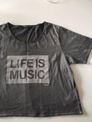 LTB Camiseta estampada gris Algodón