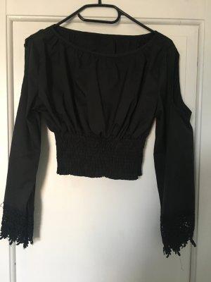 Kurzes Shirt mit spitze