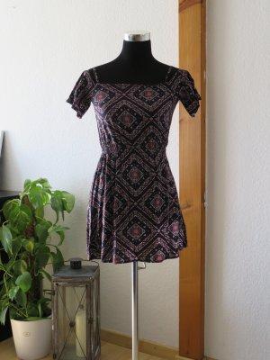 H&M Mini Dress multicolored viscose