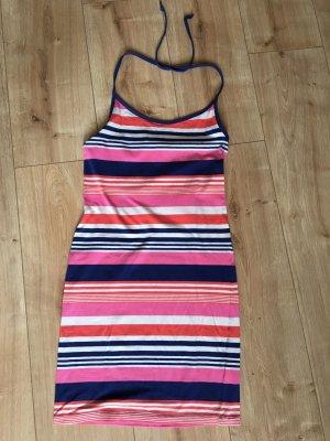 Kurzes Sommerkleid gestreift Neckholder H&M Größe 36