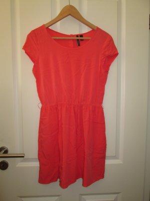 kurzes Sommerkleid- hummerfarbig