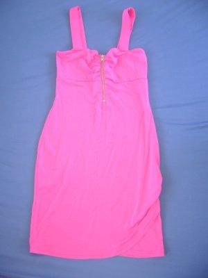 Kurzes Sommerkleid pink Reißverschluss vorne H&M XS 34