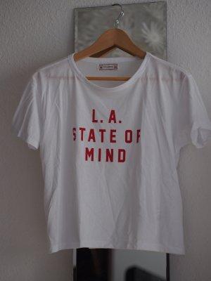 Kurzes Statement T-Shirt L.A. von Pull & Bear