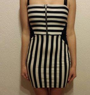 H&M Vestido de tubo blanco-negro