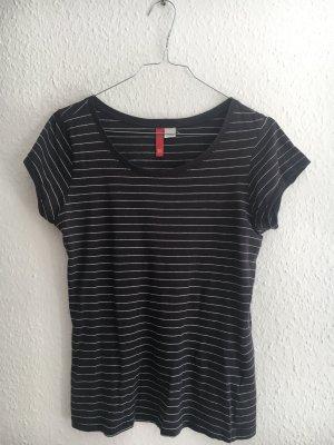 H&M Divided Maglietta a righe blu scuro-bianco
