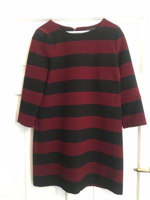 Zara Woman Mini Abito nero-bordeaux