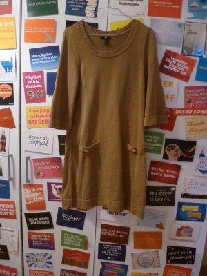 Kurzes Strickkleid von H&M, Winter, Herbst, Cognac, Stiefelkleid, Basic, Blogger
