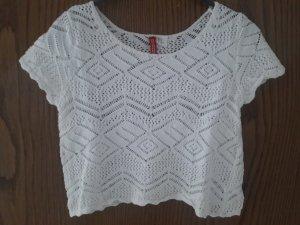 H&M Camisa tejida blanco