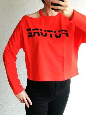 Kurzes Sweatshirt in Orange