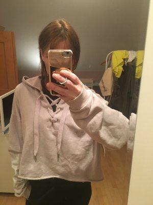 Kurzes Sweatshirt mit Schnürung