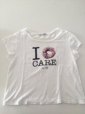 Kurzes T-Shirt, Bauchfrei, weiß
