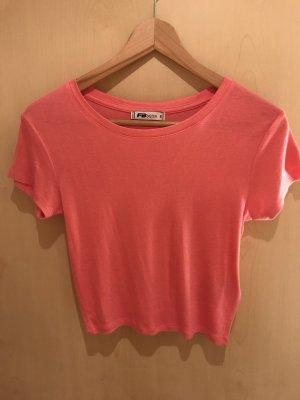 Kurzes T-Shirt in pink