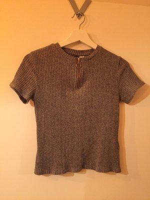 Kurzes T-Shirt mit Reisverschluss